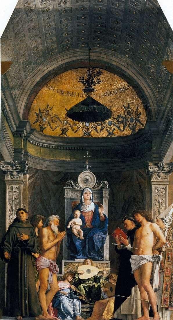 Мадонна со святыми   алтарь Сан Джоббе   Джамбеллино