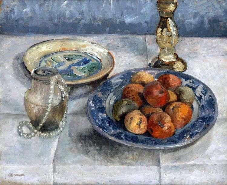 Натюрморт с яблоками   Паула Модерзон Беккер