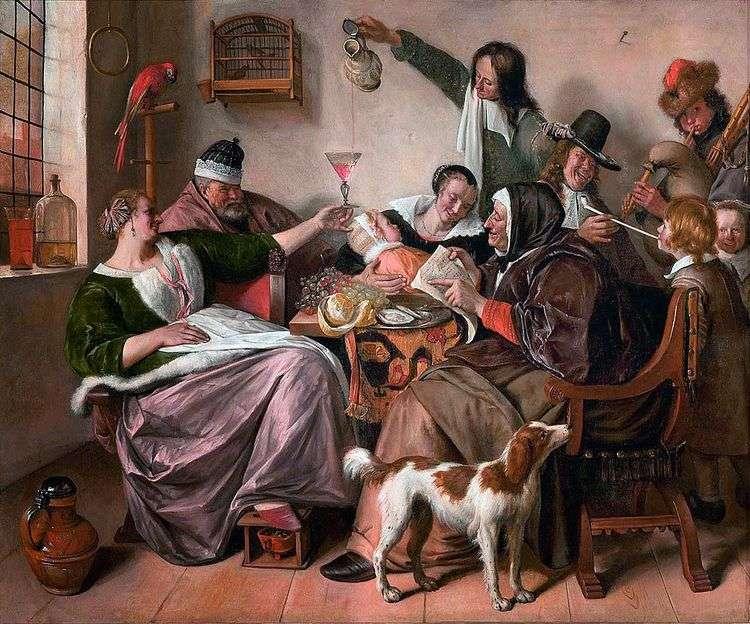 Веселье в семье художника   Ян Стен