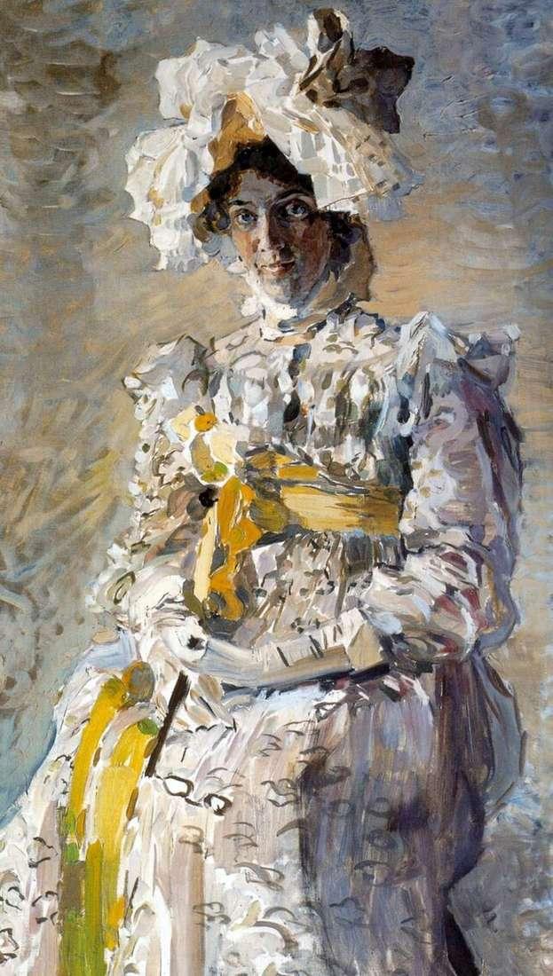Портрет артистки Н. И. Забелы Врубель, жены художника, в летнем туалете Empire   Михаил Врубель
