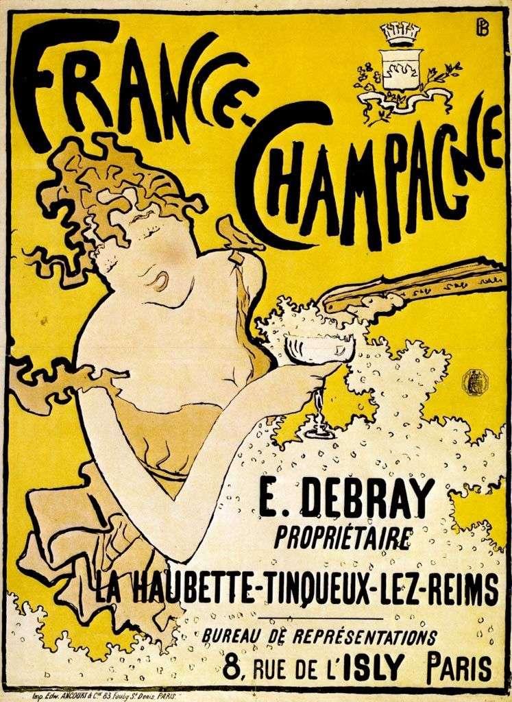Афиша французского шампанского   Пьер Боннар