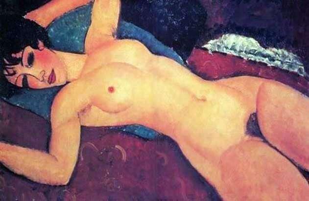 Лежащая обнаженная   Амедео Модильяни