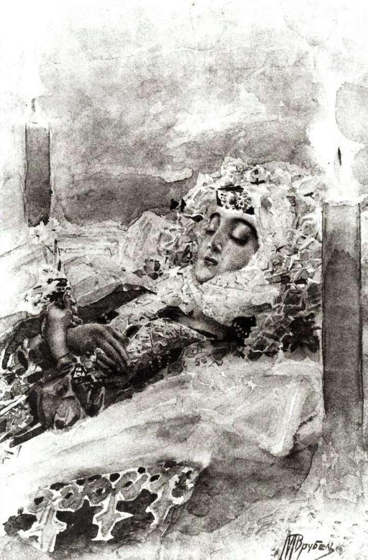 Тамара в гробу   Михаил Врубель