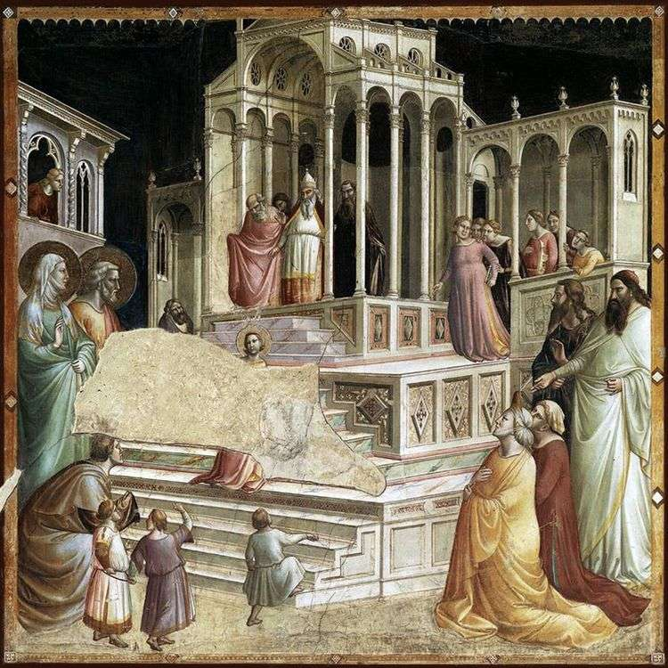 Введение Марии во храм   Таддео Гадди