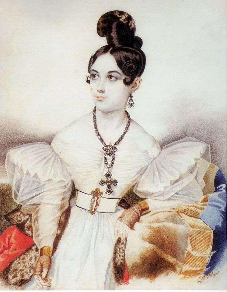 Портрет Анны Михайловны Виельгорской   Карл Гампельн