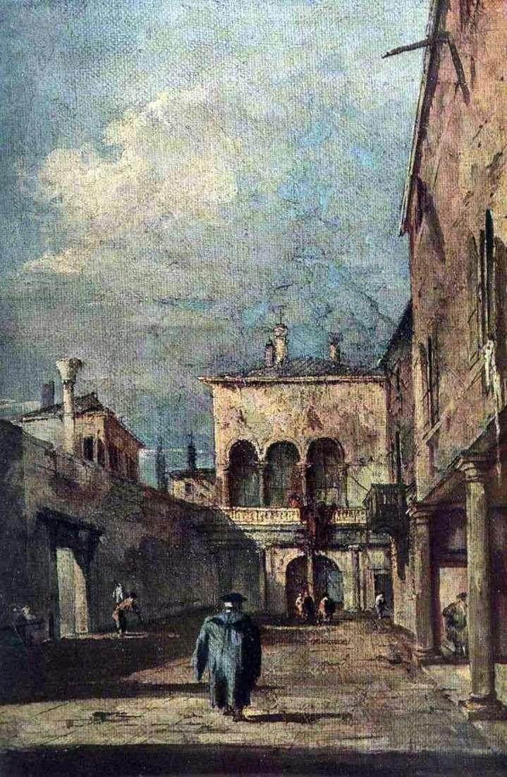 Венецианский дворик   Франческо Гварди