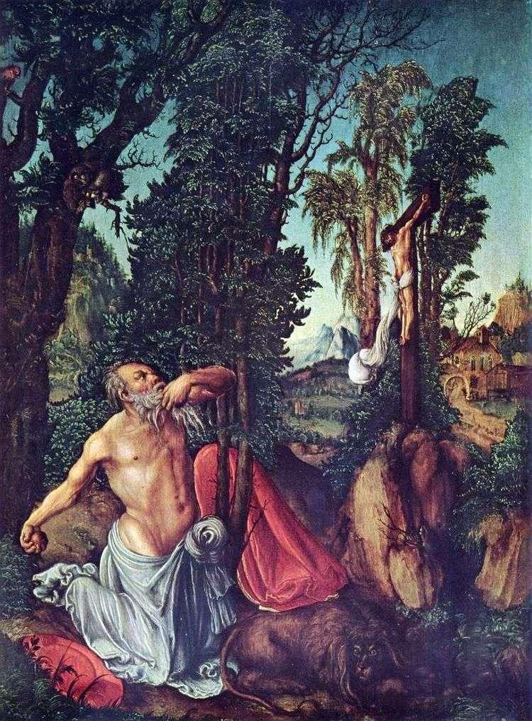 Покаяние святого Иеронима   Лукас Кранах