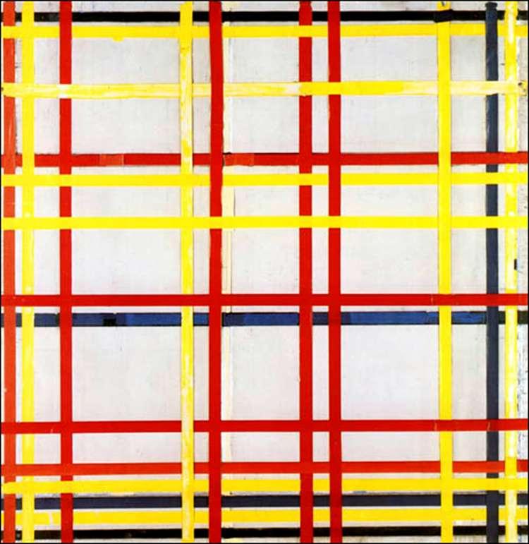 Композиция с красным, желтым и голубым   Питер Корнелис Мондриан